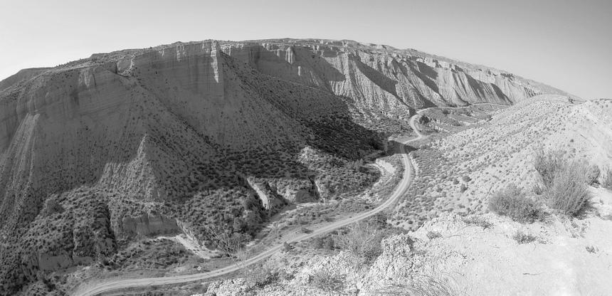 Soms lijkt het wel of ik in Nevada ben. En niet in de woestijn in Spanje...
