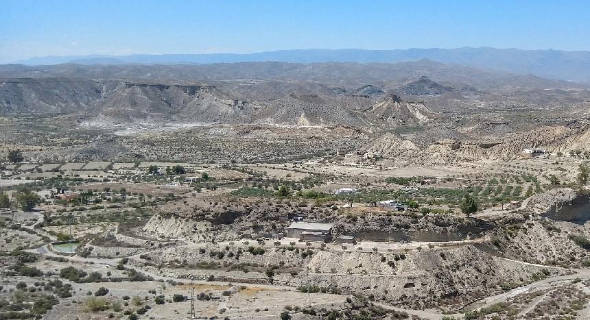 De prachtige woestijn van Tabernas,