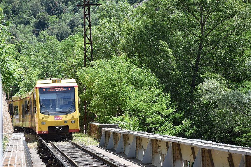 Le Petit Train Jaune (het gele treintje), Pyrénées-Orientales