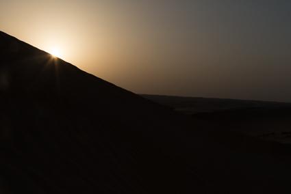 Zon boven de Sharqiyah woestijn