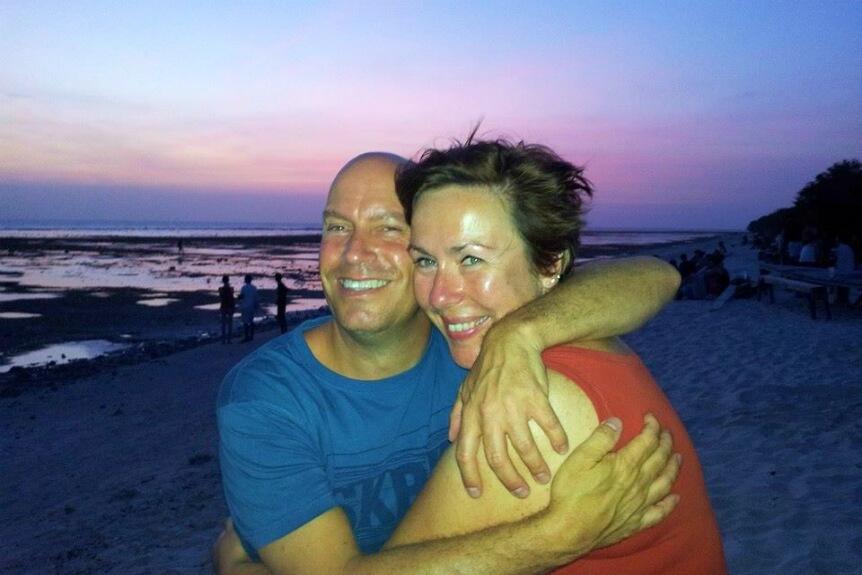Wilbert en Marjan – zonsondergang boven Gili Air