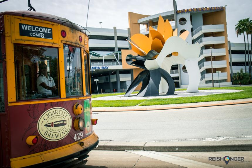 historic streetcar Tampa