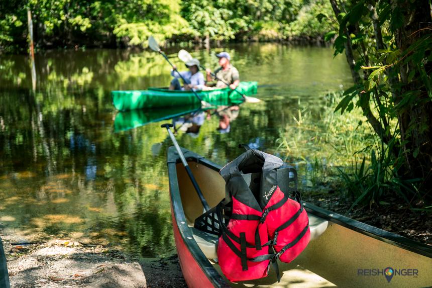 Canoe Escape heeft zijn thuishaven in het John B. Sargeant Park