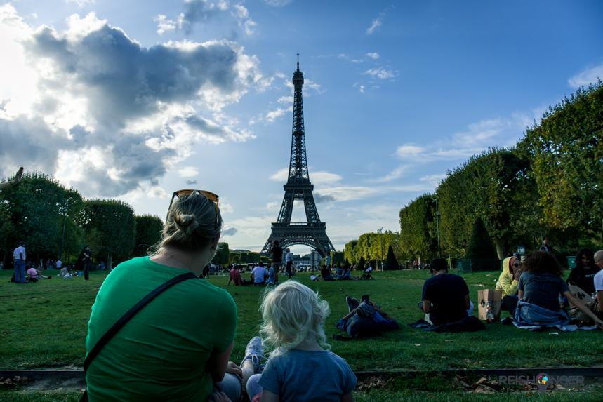 Uitzicht op de Eiffeltoren