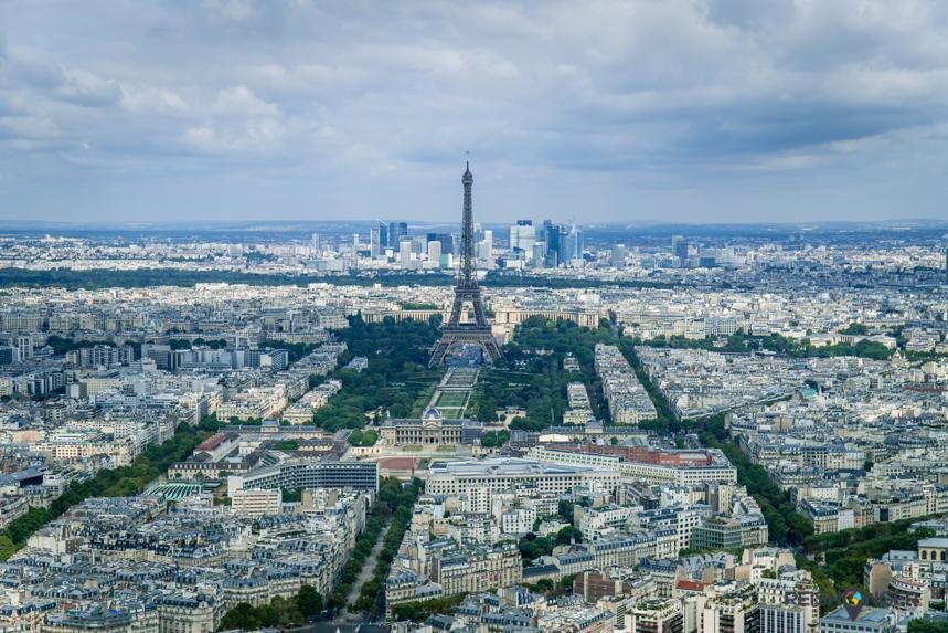 Montparnasse biedt uitzicht op Parijs inclusief de Eiffeltoren