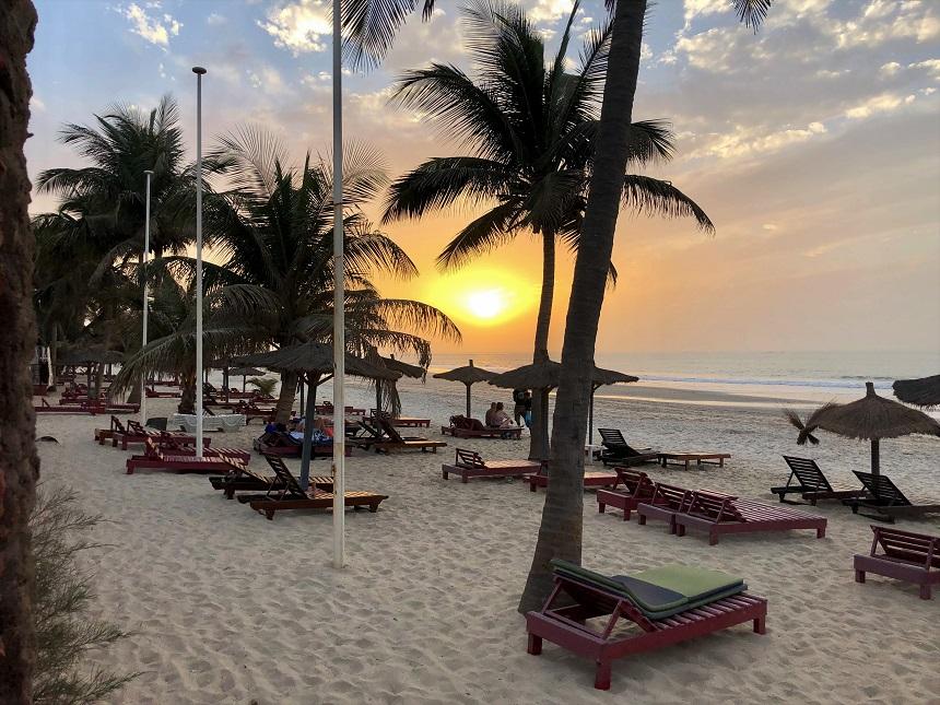 Zonsondergang Kotu Beach
