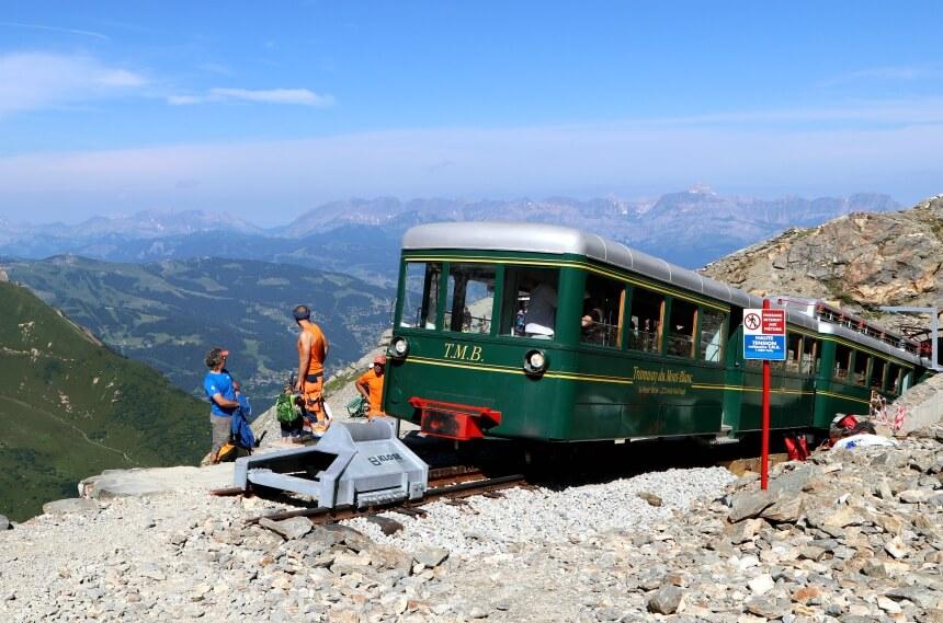De trein is de leukste manier om de Mont Blanc te bezoeken zonder de top te beklimmen