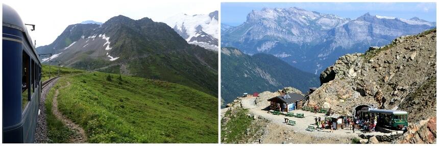 De Mont Blanc Tramway brengt je naar de voet van de Mont Blanc