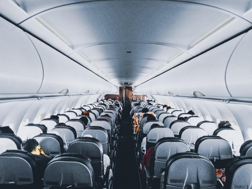 Cabine van een vliegtuig