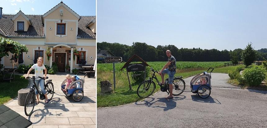 Domačija Firbas - elektrische fietsen met karretje