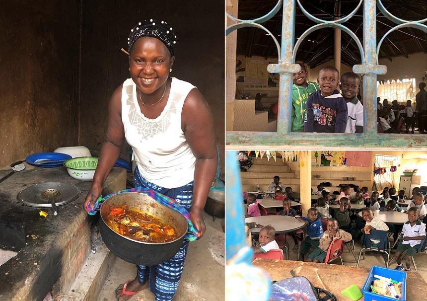 gambia keuken op school kleuterklas