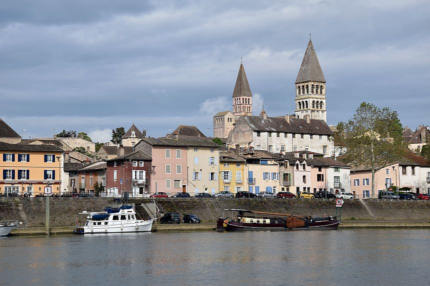 Tournus ligt langs de Échappée Bleue