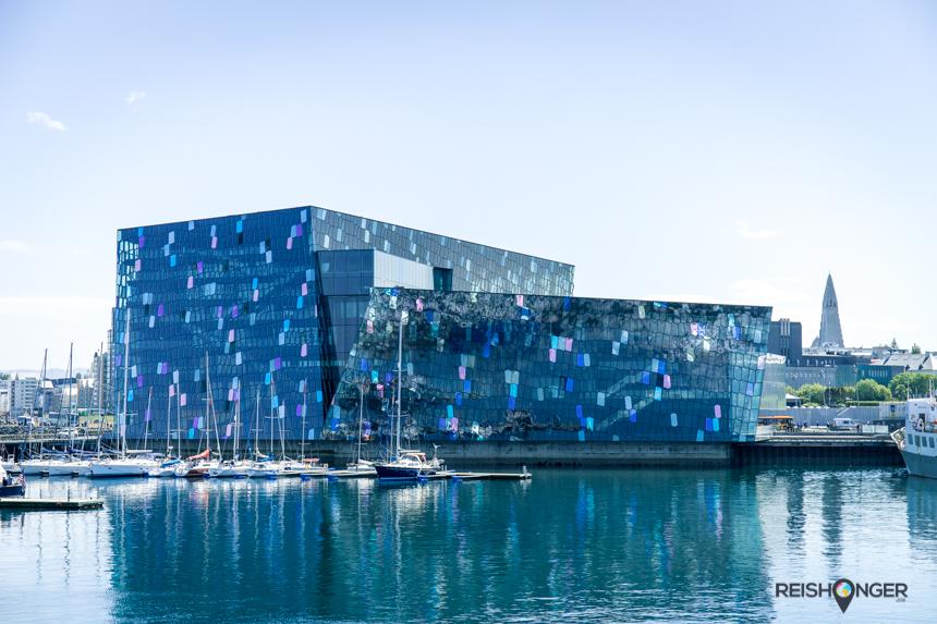 Het Harpa concerthuis Reykjavik