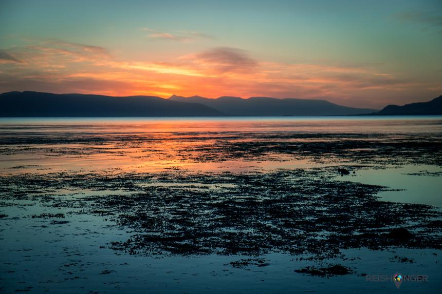 zonsopgang bewonderen in Grótta, het noordelijkste puntje van Reykjavik