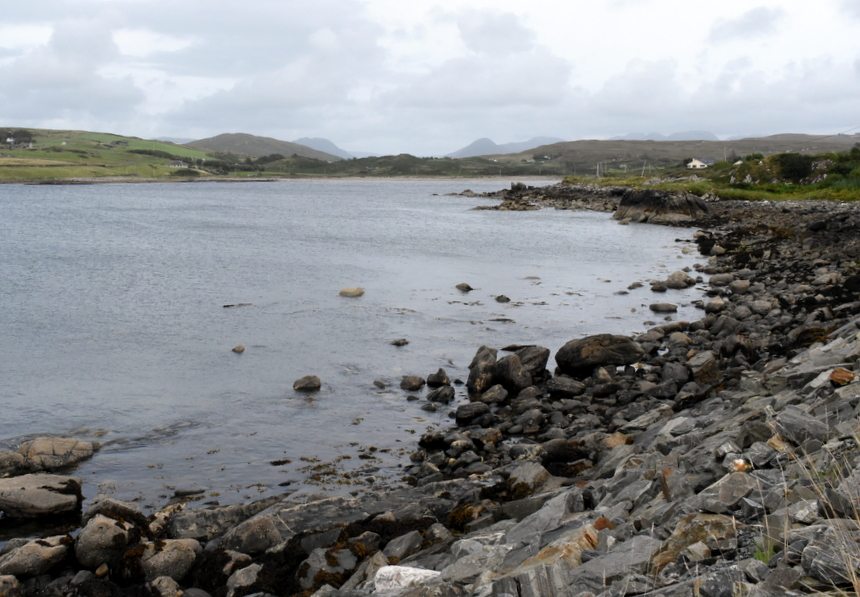 De baai bij Cleggan