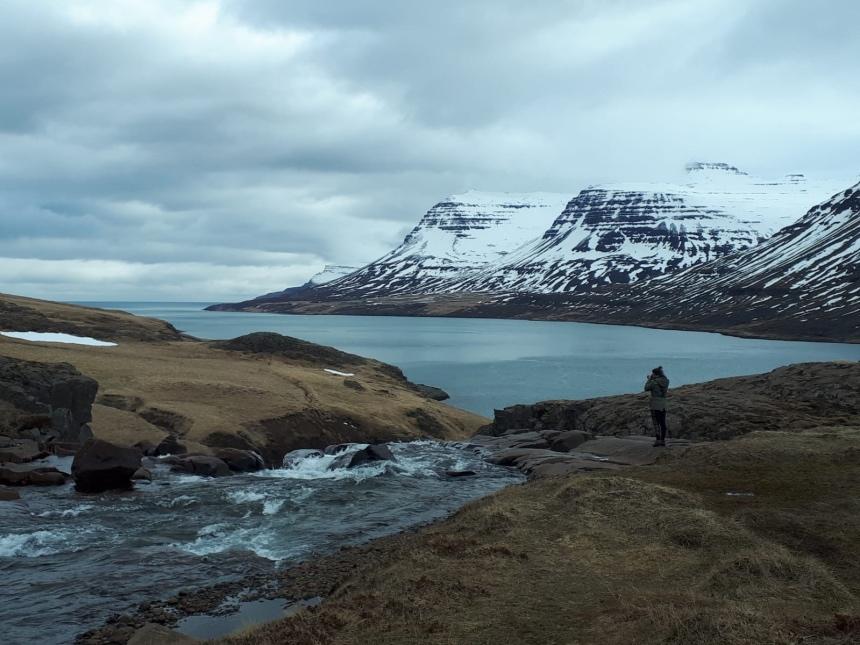 Landschap Seydisfjordur op IJsland