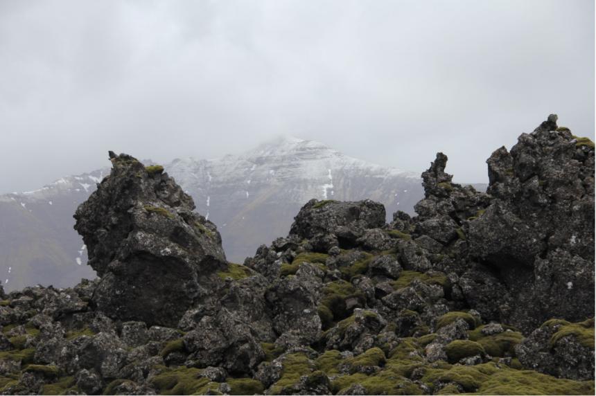Maanlandschap op IJsland