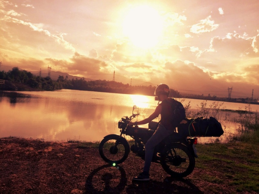 Motorrit richting Phong Nha National Park in Vietnam