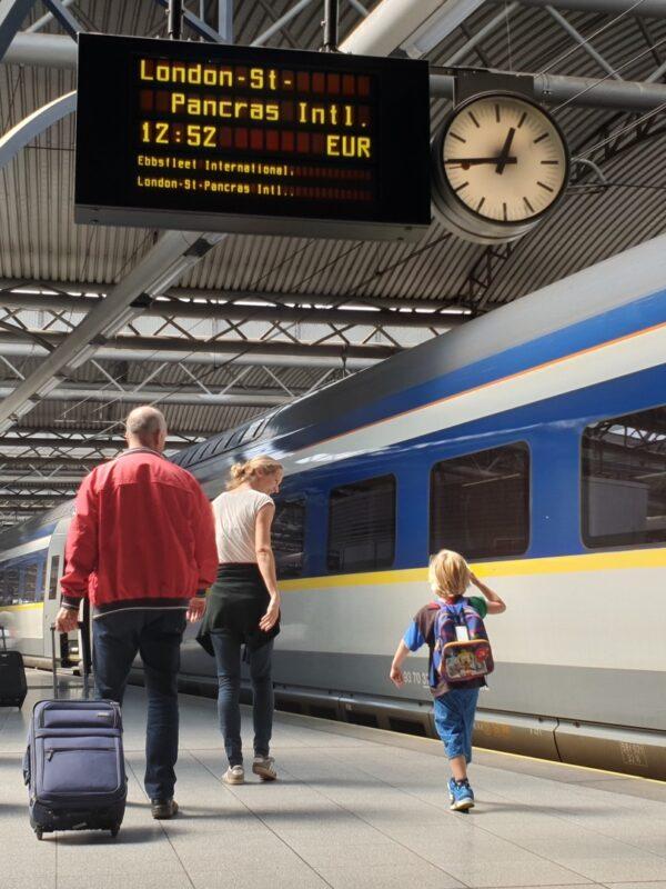 Eurostar van Brussel-Zuid naar Londen
