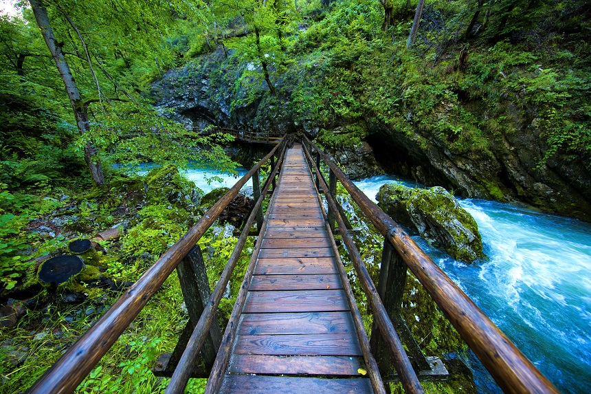 Vintgar Gorge Slovenie