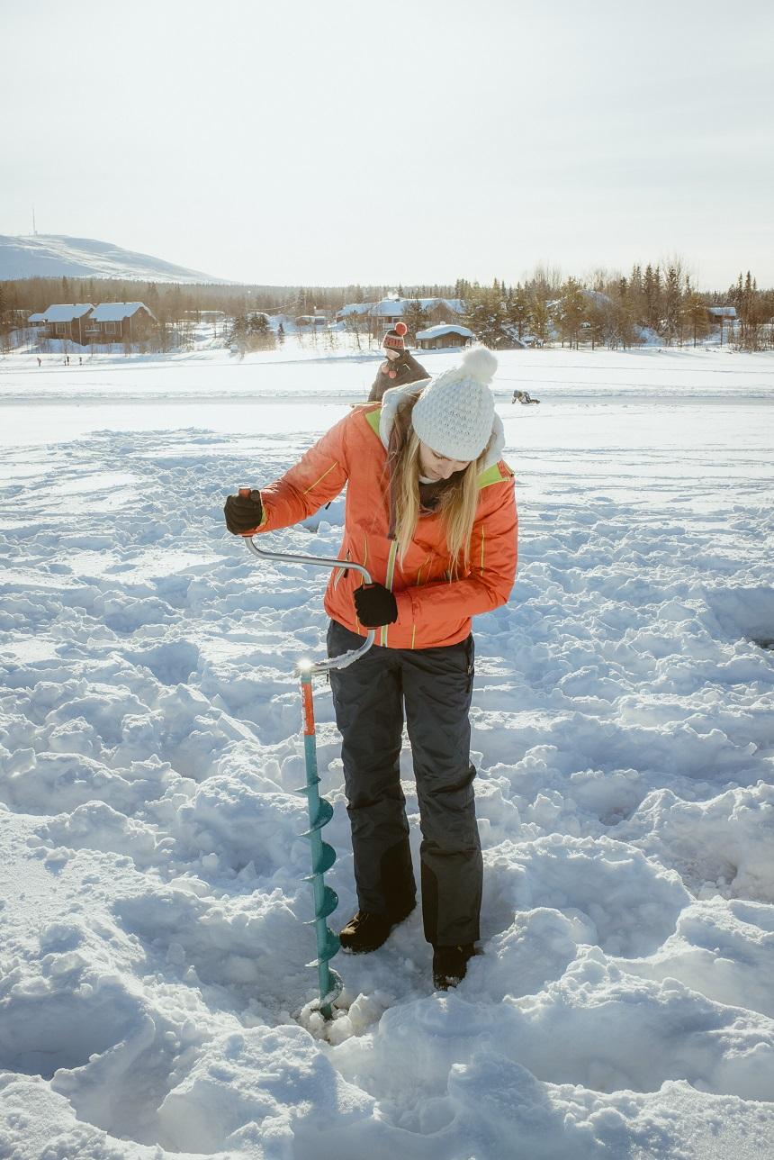 fins lapland ijsvissen