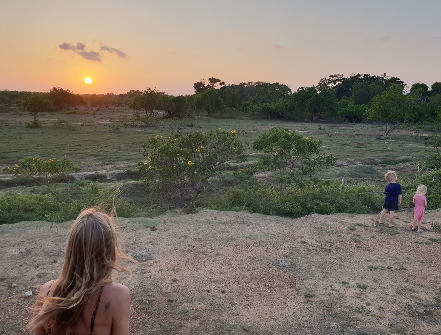 yala safari zonsondergang