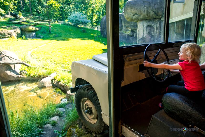 Safariwagen tijgerverblijf Oregon Zoo