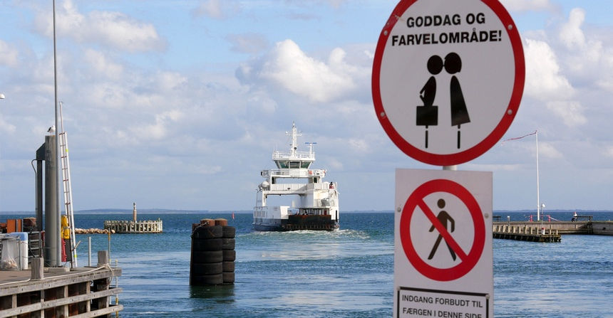Onthaasten in Denemarken - Met de veerboot van Nordsjaelland naar Odsherred.