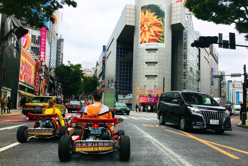 Street karts in Tokyo, een unieke manier om deze grote stad in Japan te ontdekken!