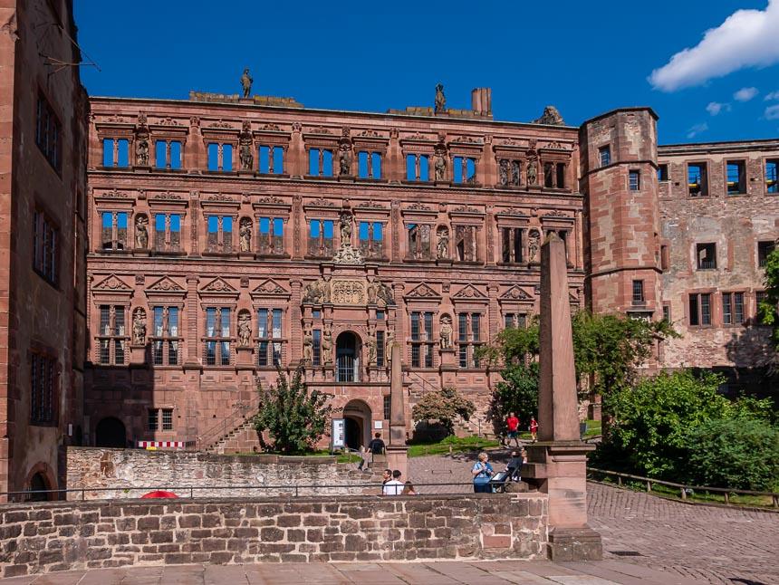 Parel van de Duitse renaissance de 'Ottheinrichsbau'