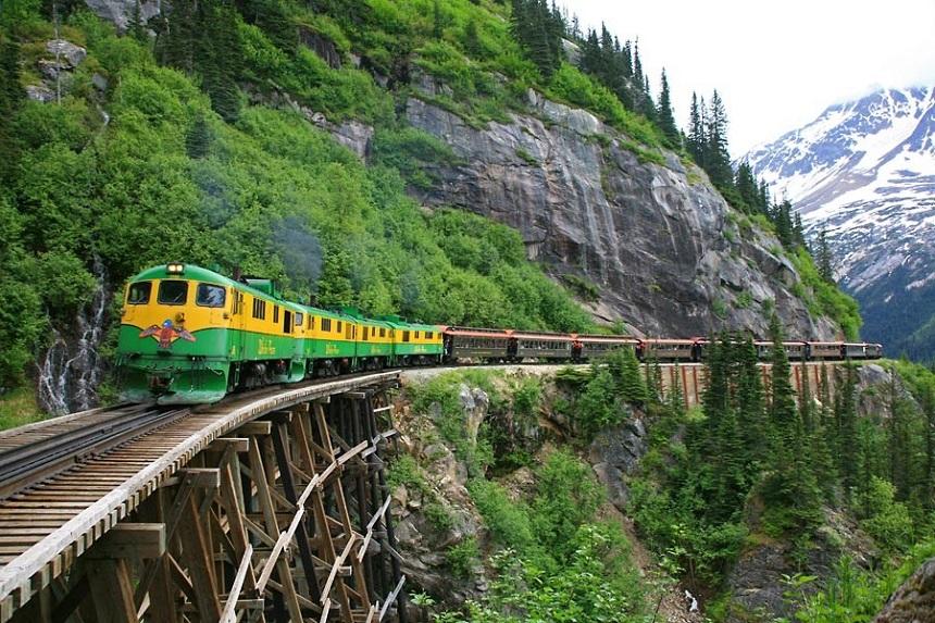 Vergezicht tijdens de White Pass en Yukon Route