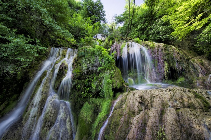 Waterval van Krushuna in Bulgarije