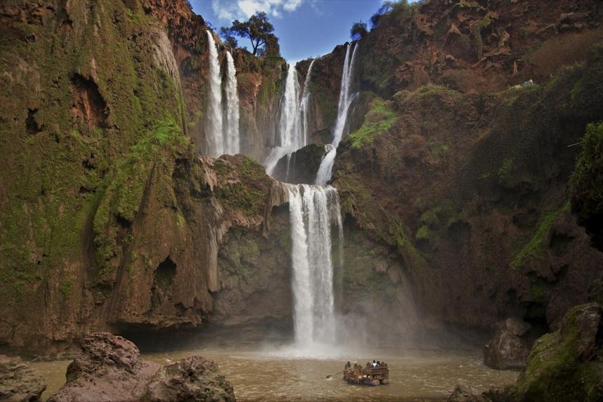 Watervallen van Ouzoud in Marokko