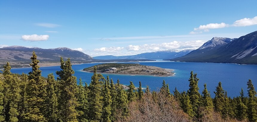 Windy Arm van het Tagish Lake