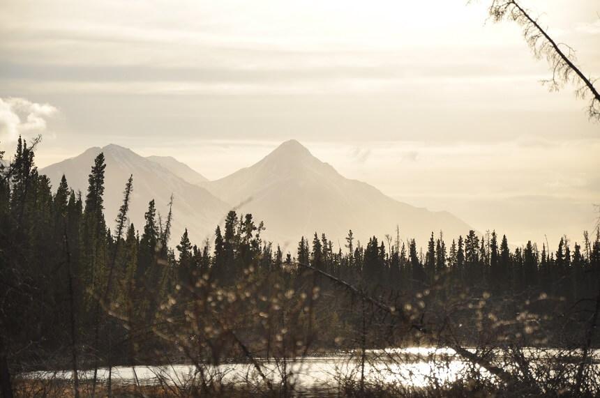 Zonsondergang bij campground Pine Lake