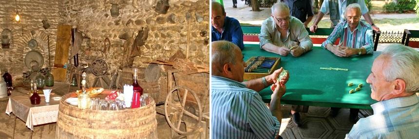 Een homestay met wijn en tricktrack spelen in Armenië