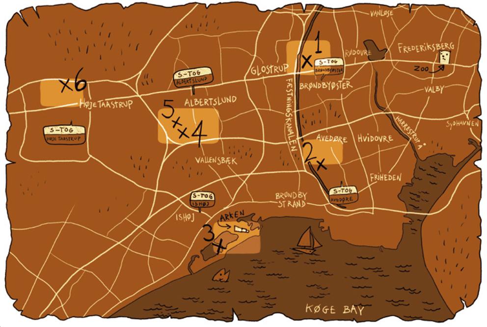 schatkaart The Six Forgotten Giants
