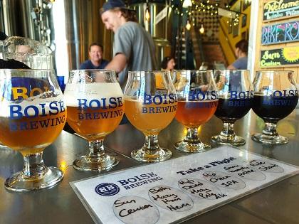 Heerlijke tasters van Boise Brewing