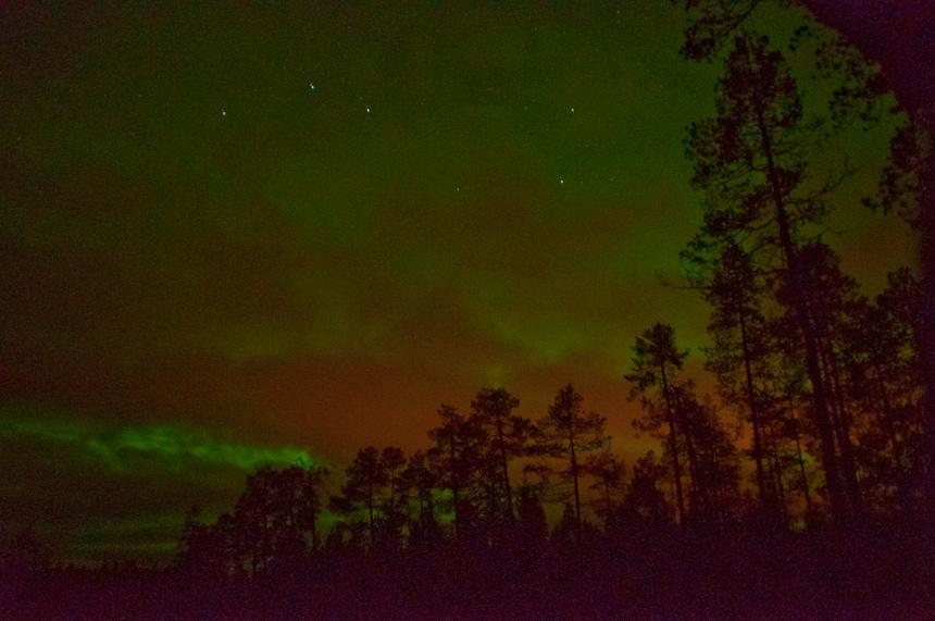 Het Noorderlicht in Oost-Finland