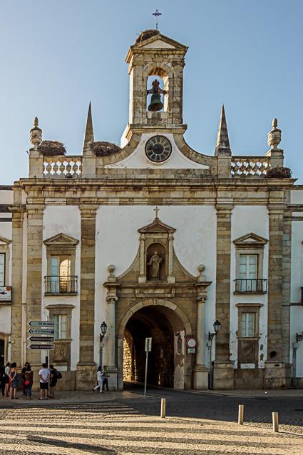 De oude stadspoort van Faro