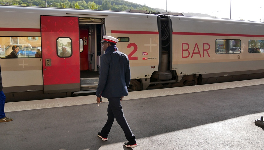 Met de trein naar de Jura.