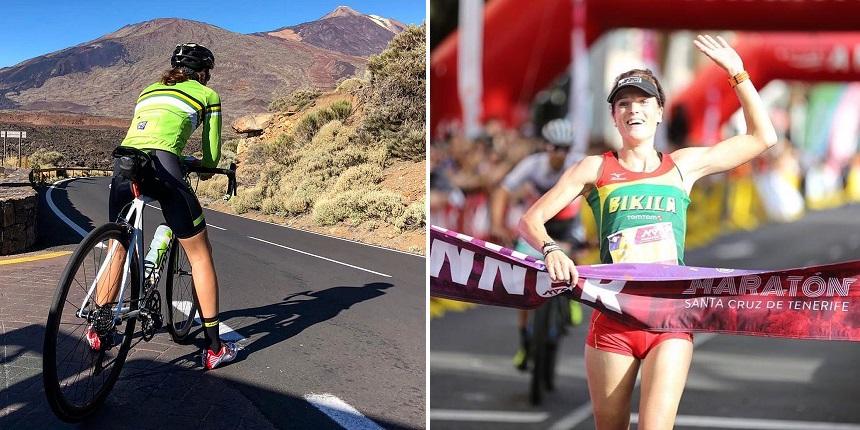 Laura Van den Beucken - sportief op Tenerife
