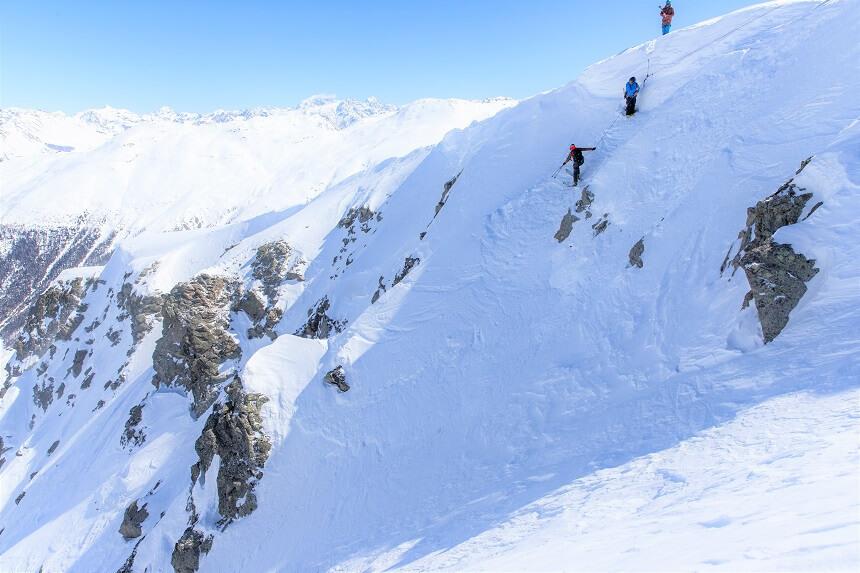 Ski Mountaineering - 50 meter afdalen via een touw