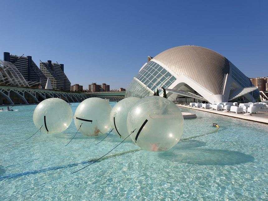 Waterballen in Valencia