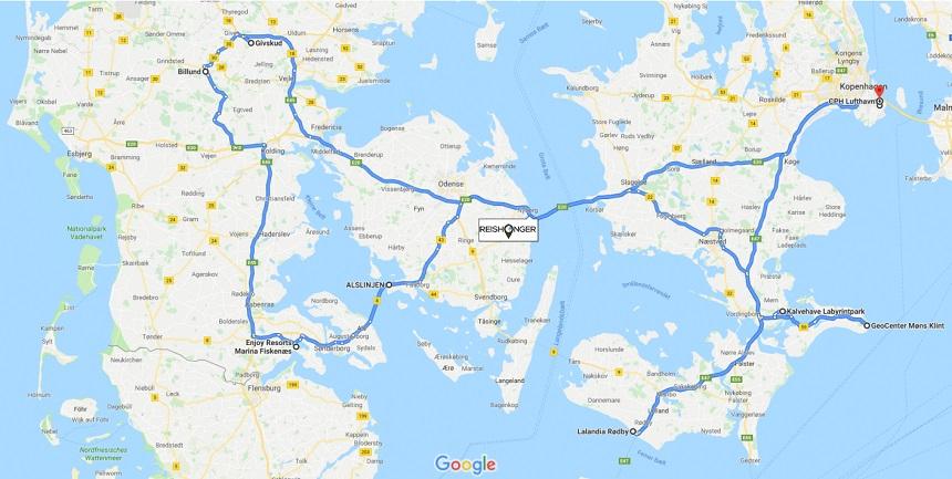 denemarken route - De route loopt kris-kras door Denemarken langs alle grote en kleine attracties, maar ook langs mooie natuurgebieden, authentieke dorpjes en dierenparken