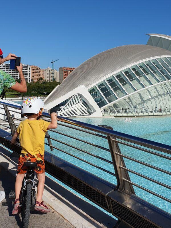 fietsen valencia met kinderen