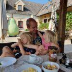 Ontbijten in een Tourist farm in Slovenië