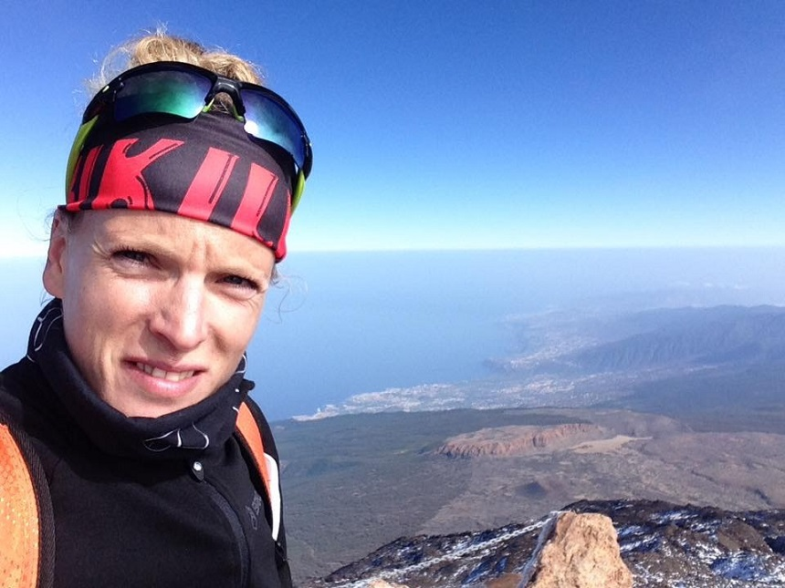op de top van de Teide
