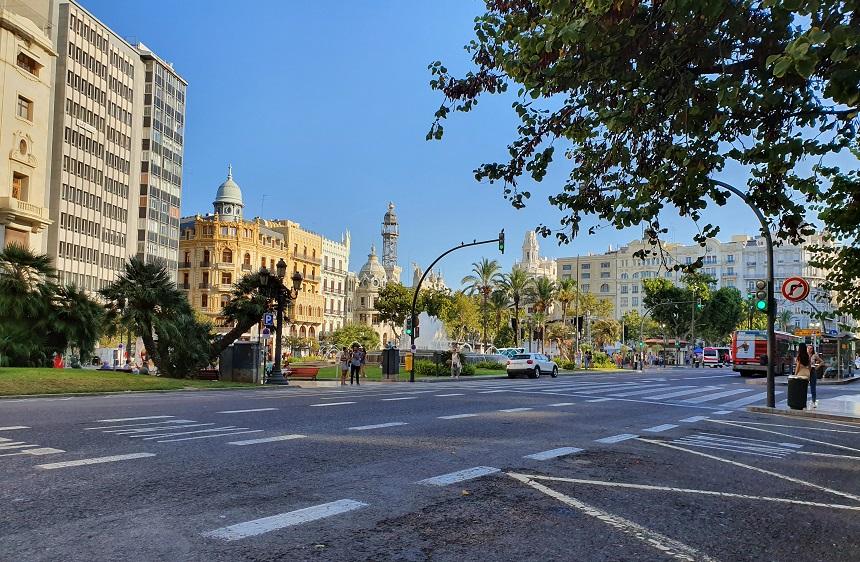 Plaza Ayuntamiento, het stadhuisplein
