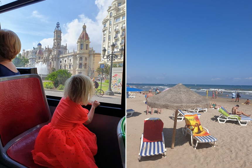 valencia - met de bus naar het strand